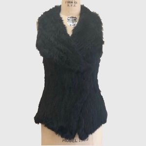 Black Fur Sweater by Dolce Cabo